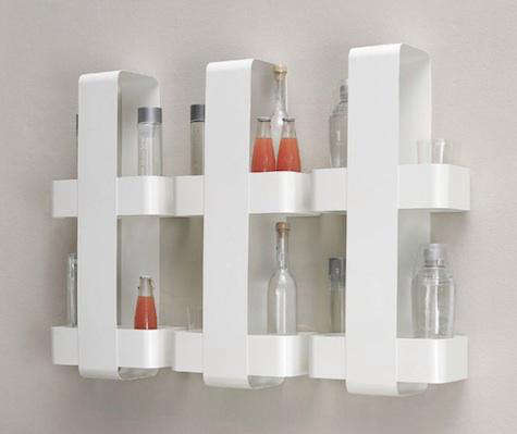 silo bottle shelf trio