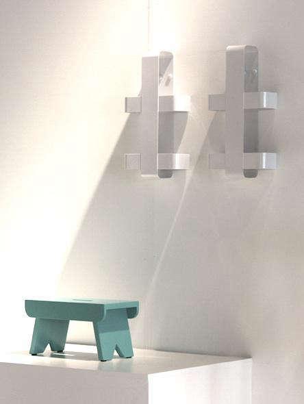 silo shelf blue stool