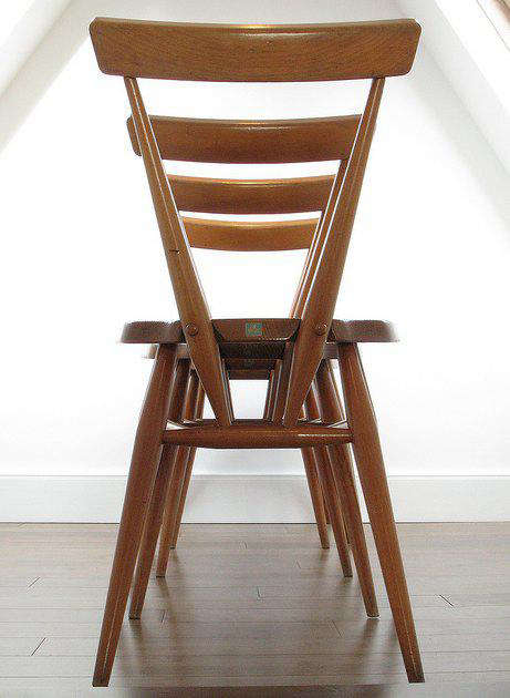 Design Sleuth Ercol Stacking Dining Chairs portrait 4