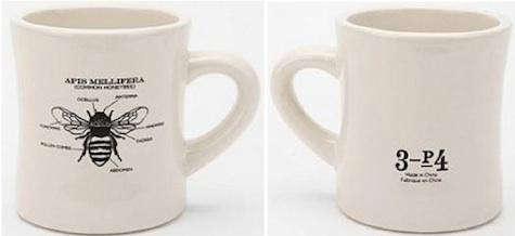 urban outfitters bee mug