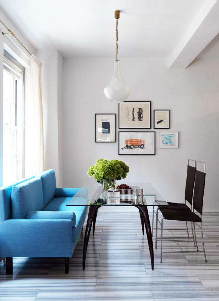 700 annabelle selldorf blue dining bench