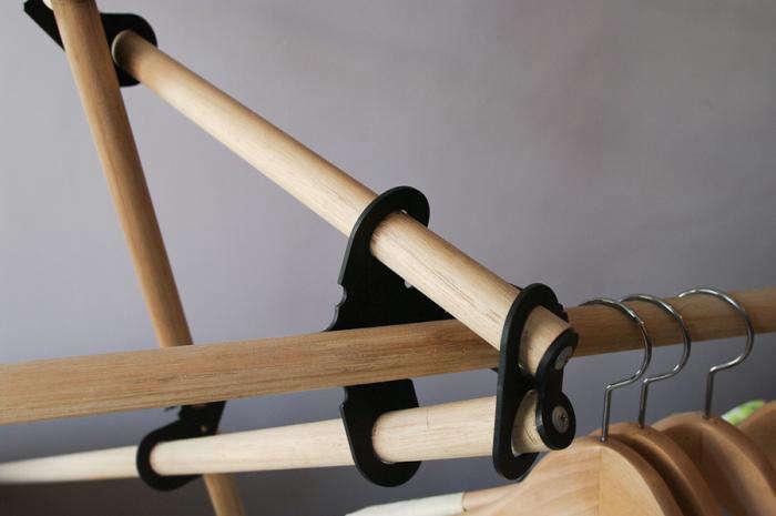 700 coat hanger detail shot black ties