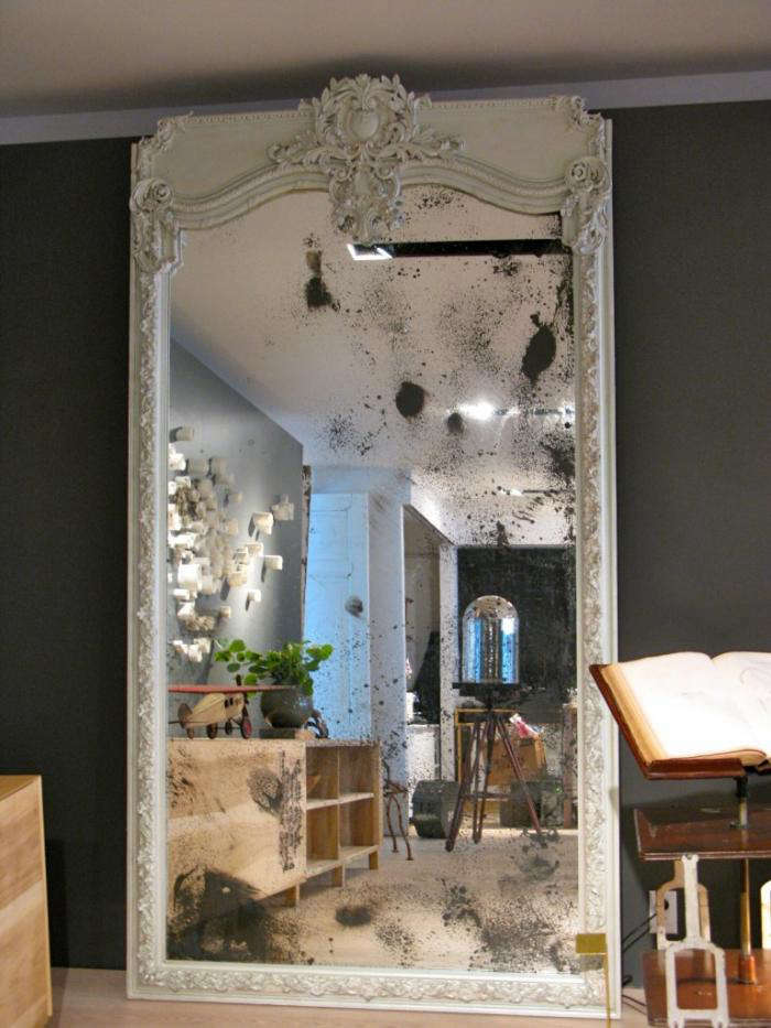 700 commute home large white antique mirror