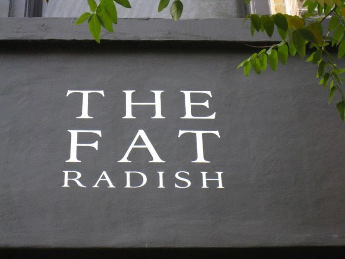 700 fat radish outdoor sign