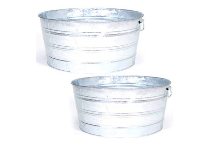 700 galvanized wash tubs beverages