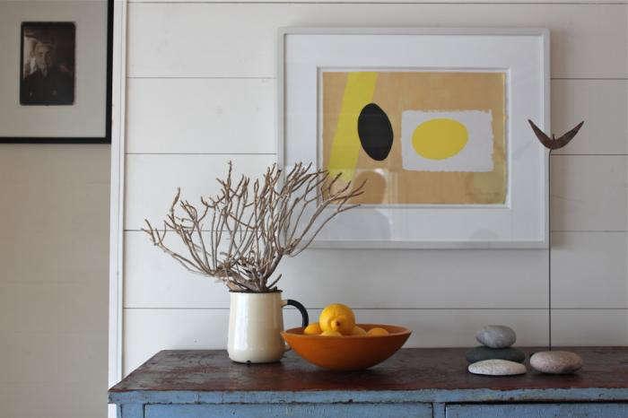 700 harbor cottage framed photograph