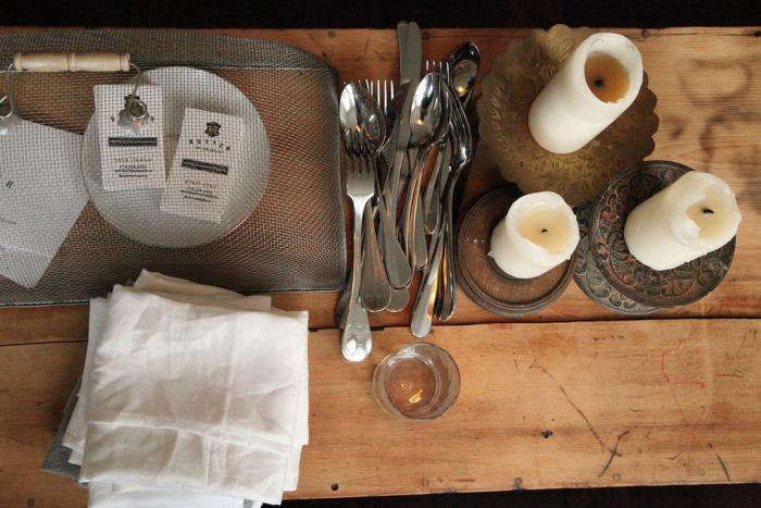 700 marche dinner candles silverware