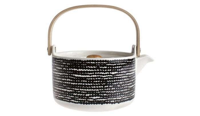 700 marimekko black white teapot