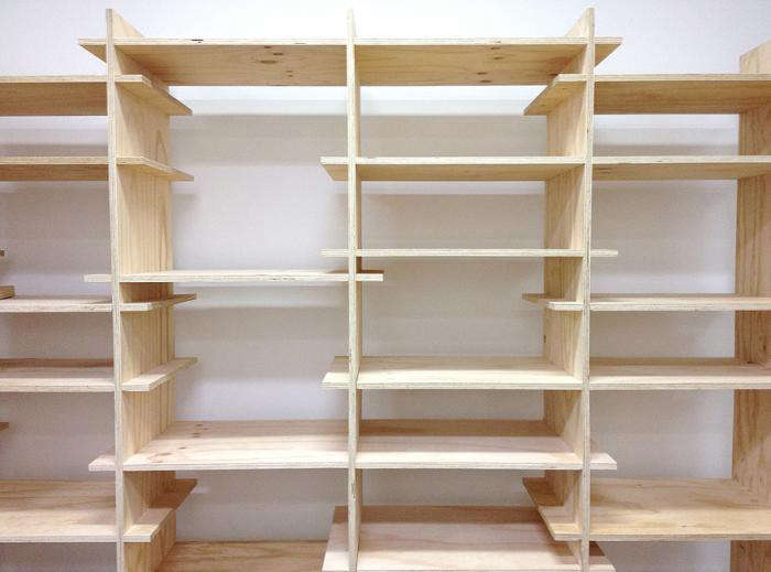 700 plywood shelves stand alone like butter