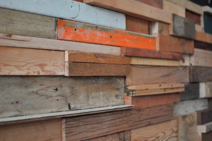 700 slow poke wall of wood orange wood