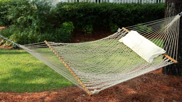 700 white rope hammock