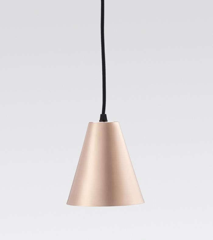 700 workroom copper triangle lamp