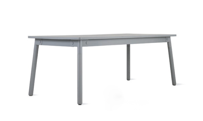 adaptable table in grey