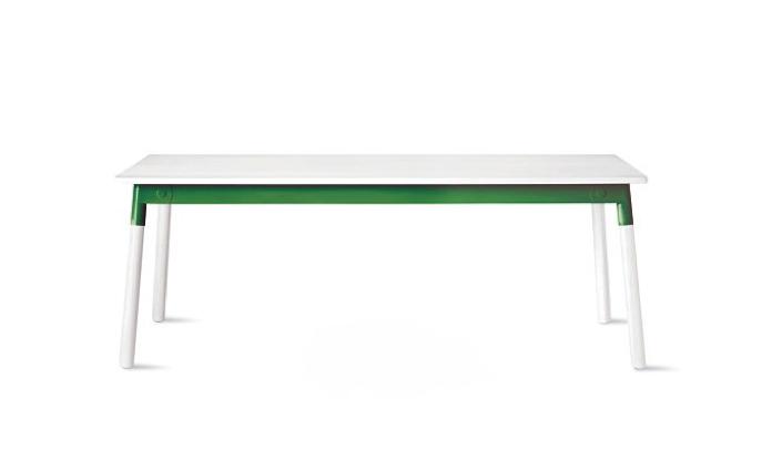 adaptable table white green