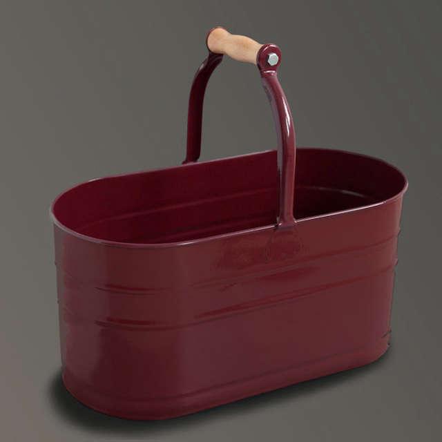 red enamel bucket labour wait