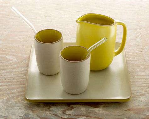 heath ceramics yellow pitcher