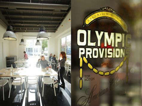 olympic provisions glass sign