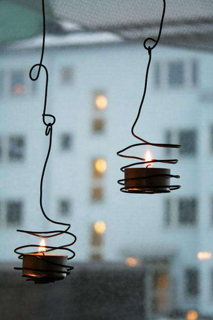 DIY Wired Tea Light Holder portrait 5