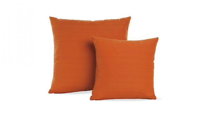 700 bright orange dwr pillows