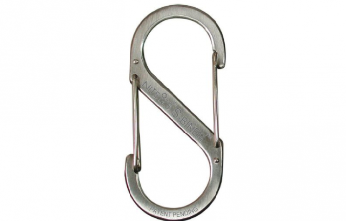 700 carabiner silver double sided