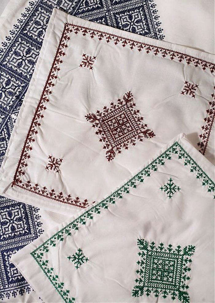 Fez Embroidered Bed Linens from Morocco portrait 4