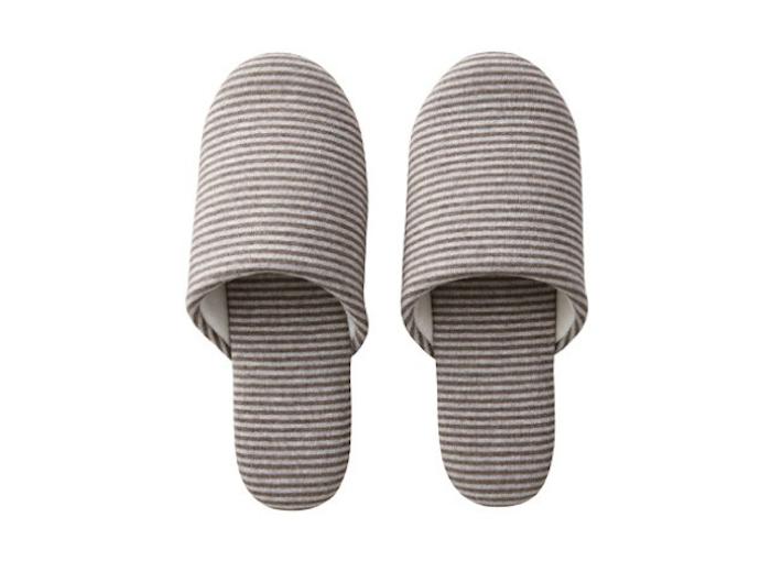 700 muji slippers in brown