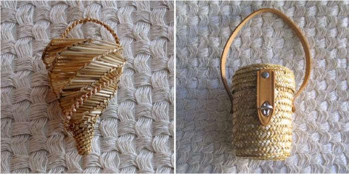 700 straw cornet bag