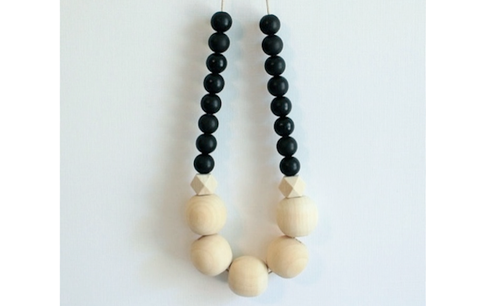 700 wooden bead necklace light and dark