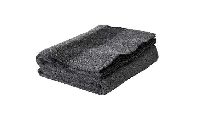 charcoal grey blanket woolrich