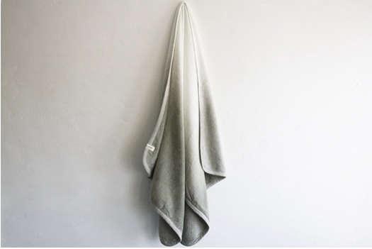 dip dye gray towel