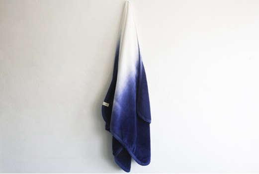 dip dye indigo towel 1