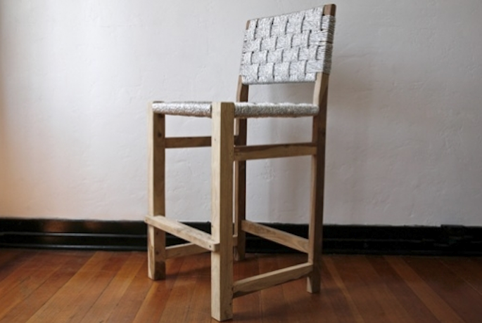 lost and found chair silver tall standing