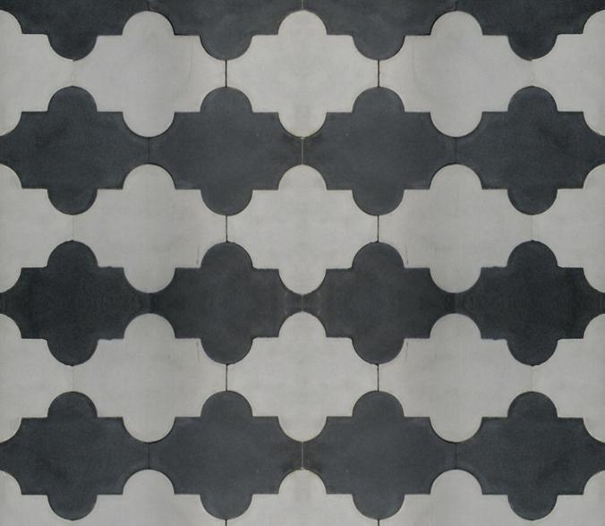 mosaic house black grey