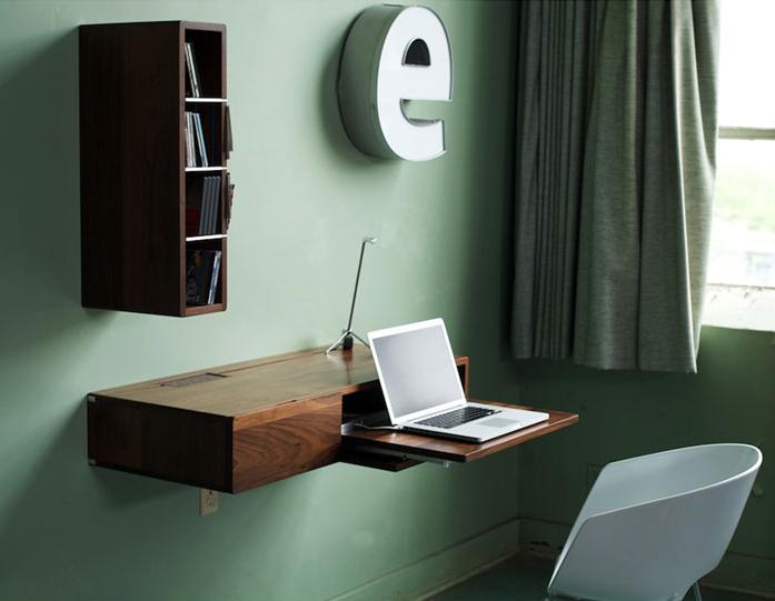walnut wall mounted desk a r