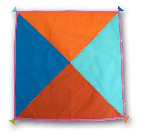 Four color flag napkin