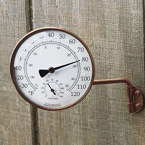 Outdoors Copper Thermometer at Garrett Wade portrait 3