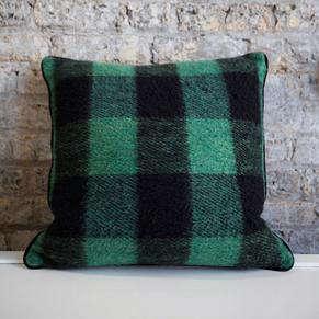 Green Buffalo Check Pillow