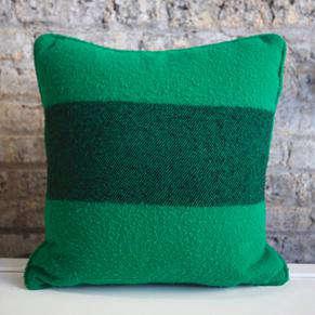 Green Hudson Bay Pillow