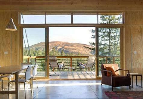 Architect Visit Pine Forest Cabin by Balance Associates in Seattle portrait 5