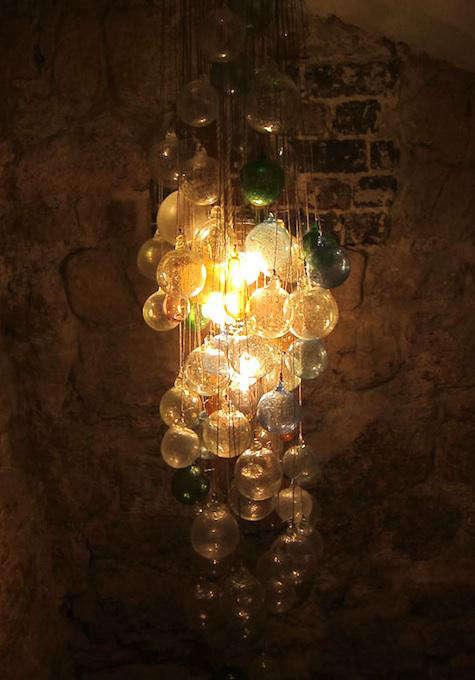 candelaria glass bubble chandelier