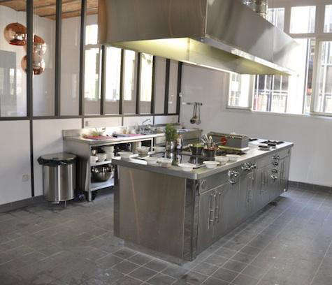 french kitchen restaurant stainless stove