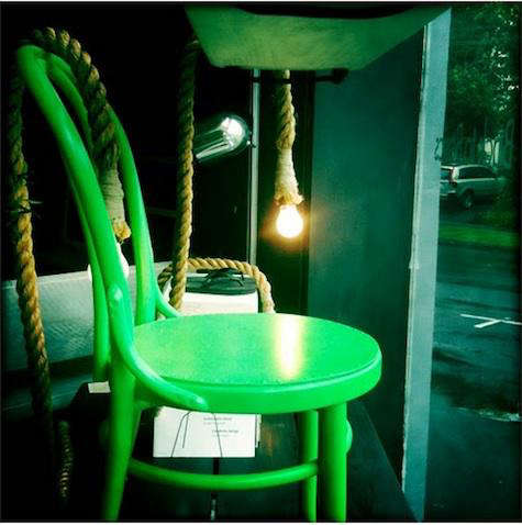 house of orange green chair