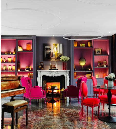 juliette pink gray red chair