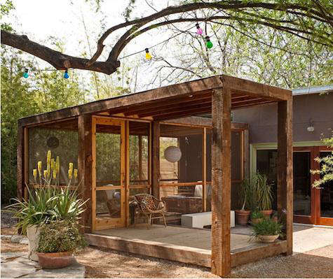 Architect Visit Screened Porch by Poteet Architects in San Antonio Texas portrait 4