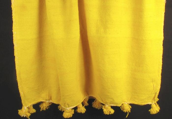 700 700 1carl pom pom yellow throw blanket