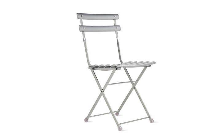 700 arc en ciel folding chair silver