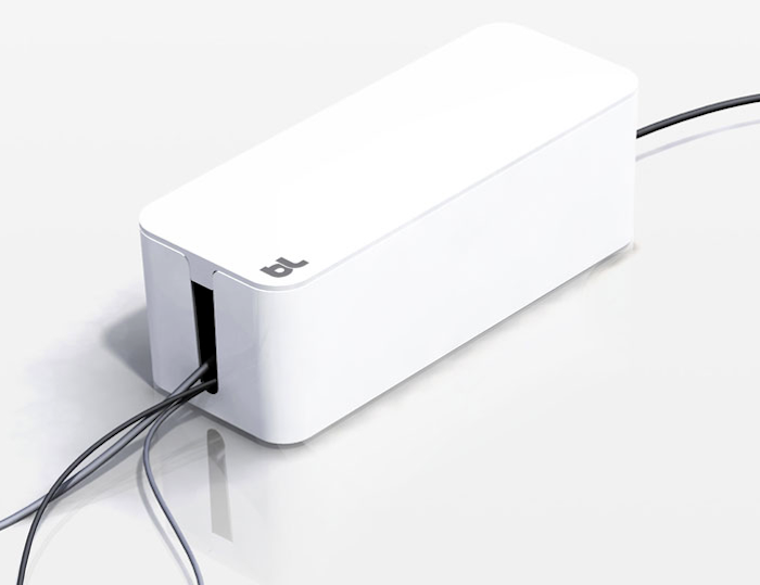 700 cable box organizer white box