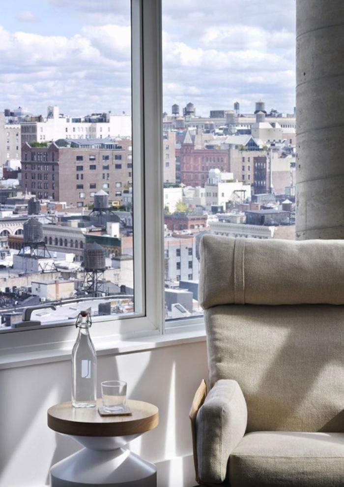 700 james window and linen chair