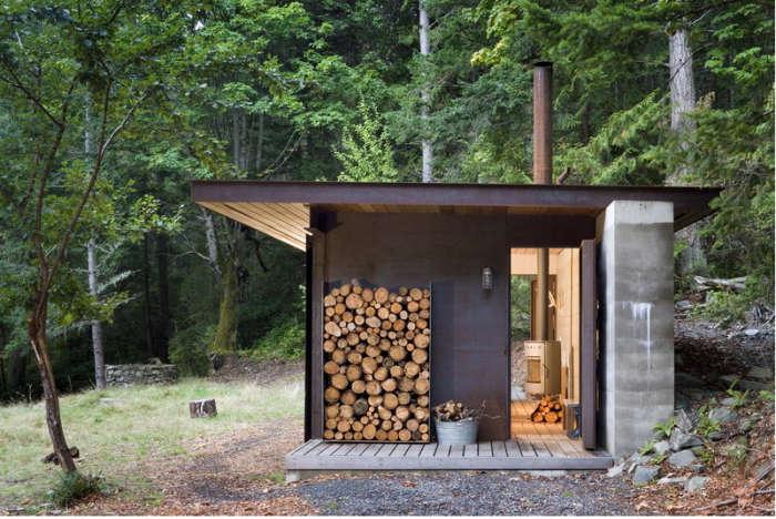 700 olson kundig cabin exterior light