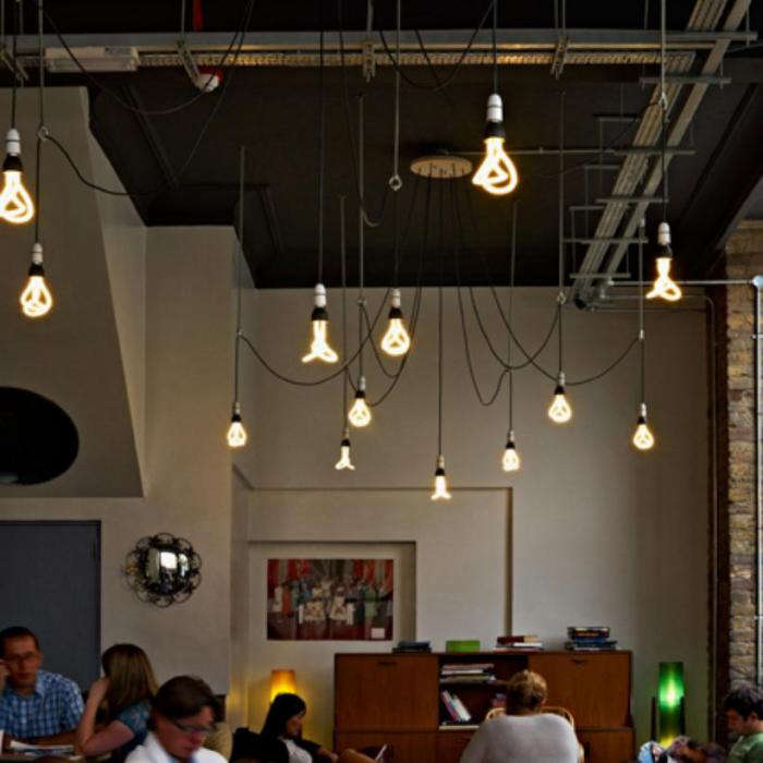 700 plumen hanging bulbs many from ceiling